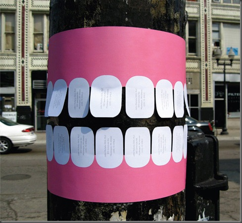 Guerrilla-Marketing-Paper-Teeth-on-Trees